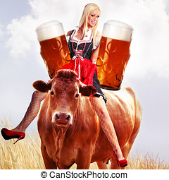 crazy tiroler oktoberfest woman - crazy oktoberfest or...