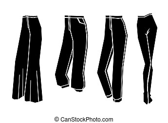 woman trousers vector illustration