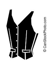 waistcoat vector illustration