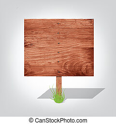 wooden board. A pointer to a white background. Transparency...