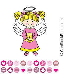 Angel with a chalice - Girl first communion Angel with a...