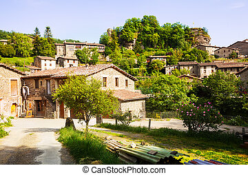 Catalan village. Rupit. Catalonia - General view of catalan...