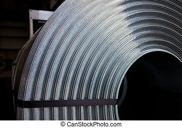 Steel plate - Detail of zinc coated steel plate coil