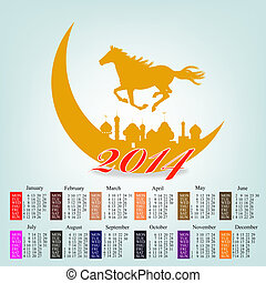 The New Year Horse Calendar 2014