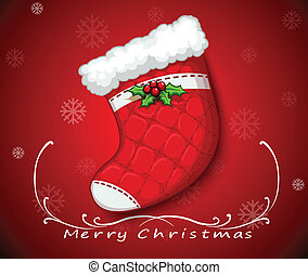 A christmas sock - Illustration of a christmas sock