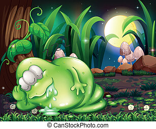 A monster sleeping in the forest