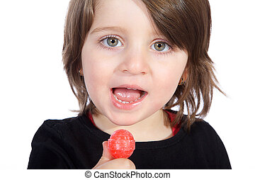 girl with lolly