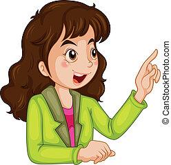 A businesswoman talking - Illustration of a businesswoman...