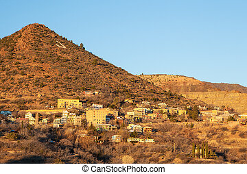 Jerome At Dawn - Jerome town, nestled on a hillside in the...