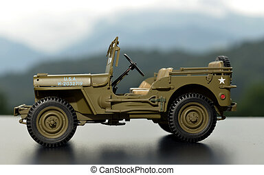 miniature military vehicle