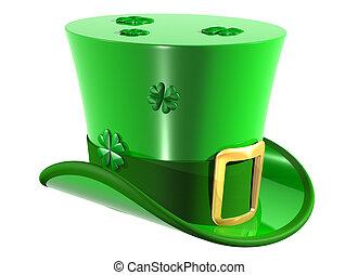Leprechaun Top Hat - Isolated illustration of an Irish...
