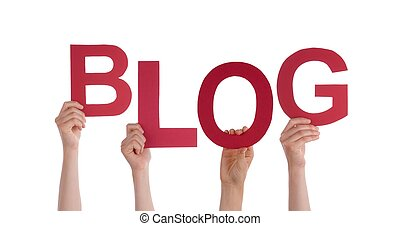 Hands Holding Blog - Many Hands Holding the Red Word Blog,...
