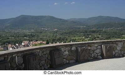 Panoramic view in France - Panoramic view in Obernai,...
