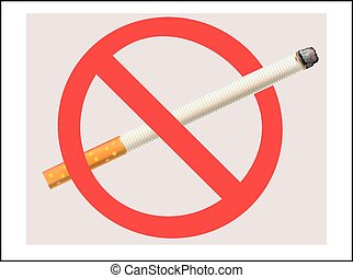 No Smoking cigarette