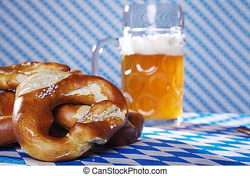 Oktoberfest, Pretzel, cerveza
