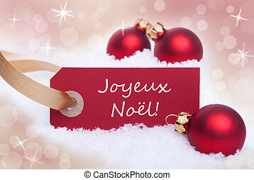 Red Banner With Joyeux Noel - A Red Banner With the French...