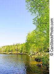Mineral lake - small idyllic mountainlake in Sweden