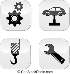 Car service repair icon