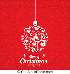 Merry christmas design over pattern background vector...