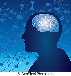 Brain Human thinking concept