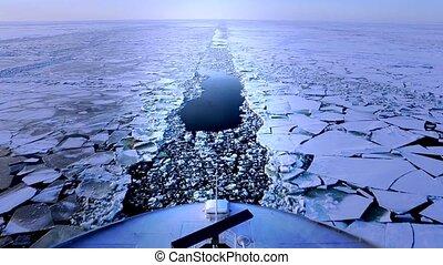 Ferry in winter