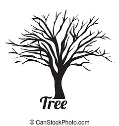 Tree silhouette over white background vector illustration