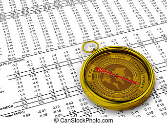 Financial Investment Compass - A conceptual image for...