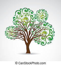 big tree over gray background vector illustration