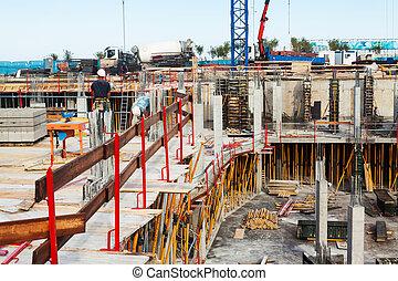 building new concrete house