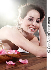 woman relaxing at SPA