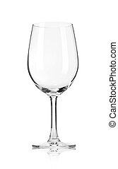 Empty wine glass, isolated on a white background. With...