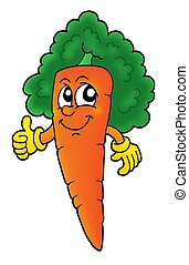 Curly carrot - Curly orange carrot - color illustration