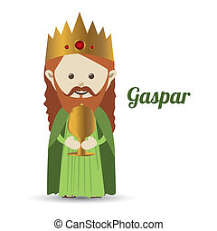 gaspar design over white background vector illustration