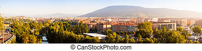 Panorama of Pamplona - Panorama of residential districts of...
