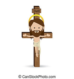 jesuschrist - jesuschrist design over white background...