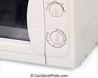 Microwave oven - microwave oven isolated over white...