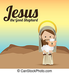 jesuschrist design over sky background vector illustration