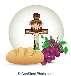 jesuschrist - jesuschrist design over white background...