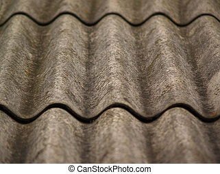 Part of roof (focus in center) - Part of old grey slate roof
