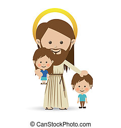 jesuschrist design over white background vector illustration...