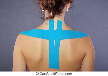 tape on back
