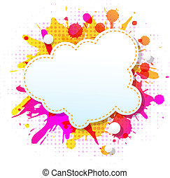 Color Grunge Poster With Abstract Speech Bubbles