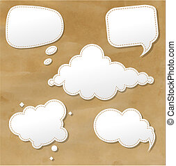 Vintage Grunge Texture With Speech Bubbles