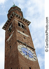 Bell Tower with a clock of the Basilica Palladiana - ancient...