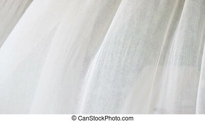 Curtains in the breeze wind - Sheer white curtains blowing...