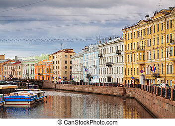 View of St. Petersburg. Moyka River - View of St....