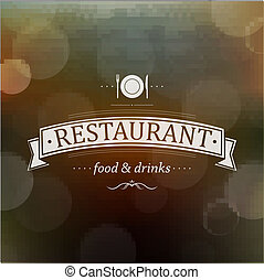 Retro Restaurant Menu, With Gradient Mesh, Vector...
