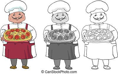 italian cook - Set of three variations of italian coock