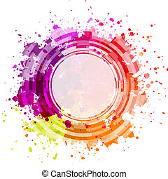Colorful Blot Background, Vector Illustration