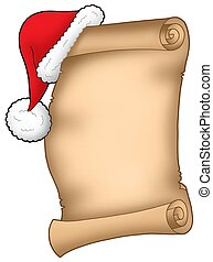 Santa Claus wish list - color illustration.
